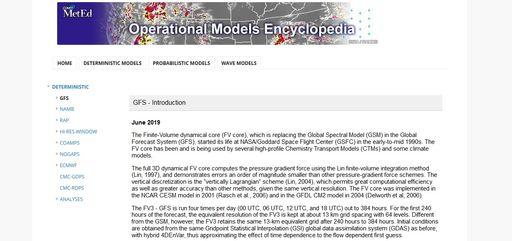 La enciclopedia de modelos numéricos de predicción: actualizada