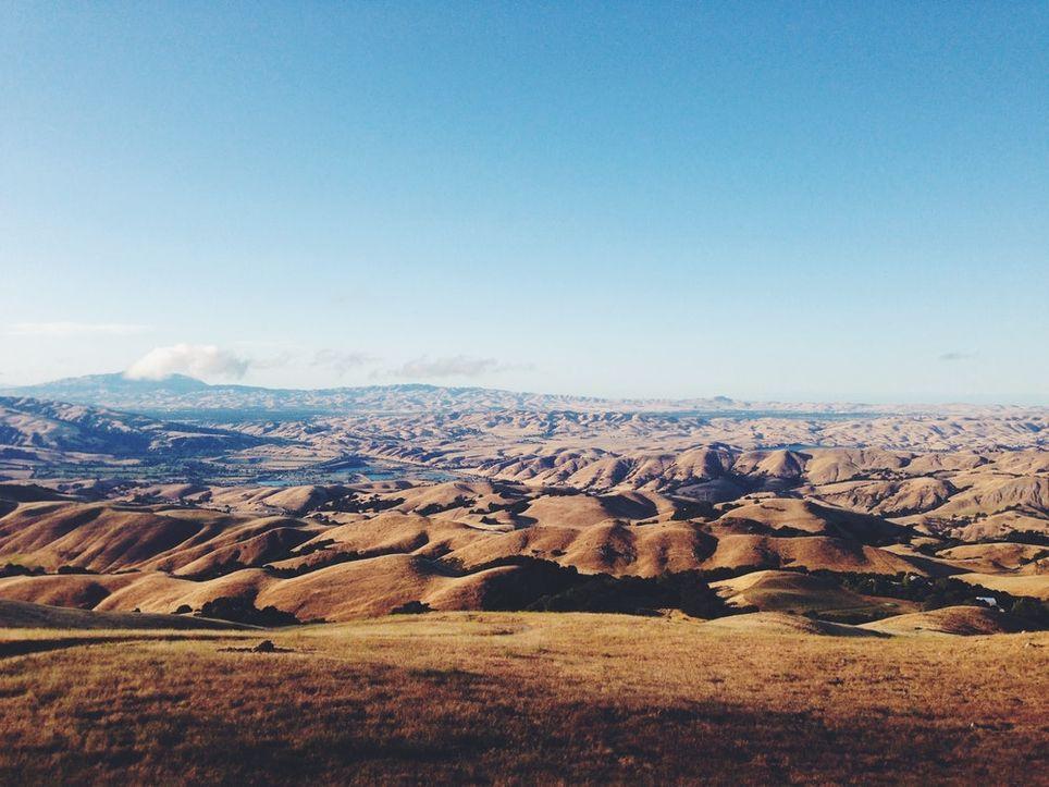 Paisaje de cárcavas. Son tierras poco productivas pero muy llamativas visualmente.