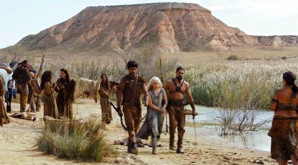 Las Bardenas Reales como el Mar Dothraki en la serie Juego de Tronos.