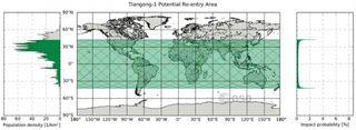 La estación espacial china podría caer el domingo de Pascua, 1 de abril