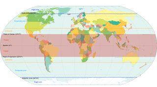 La expansión de los trópicos hacia los polos