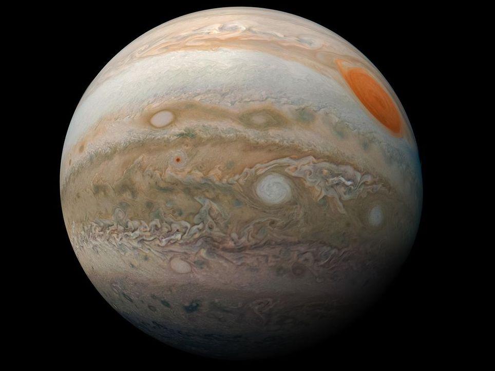 Jupiter Gran mancha auroras nasa telescopio