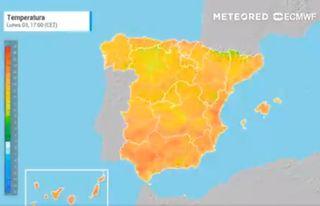 La irrupción de aire cálido bate récords un día más