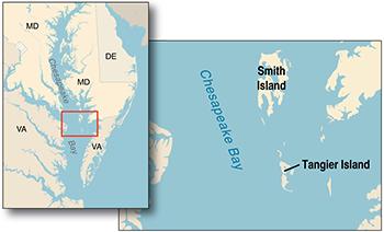La Isla Americana De Tangier Desaparece Bajo El Agua