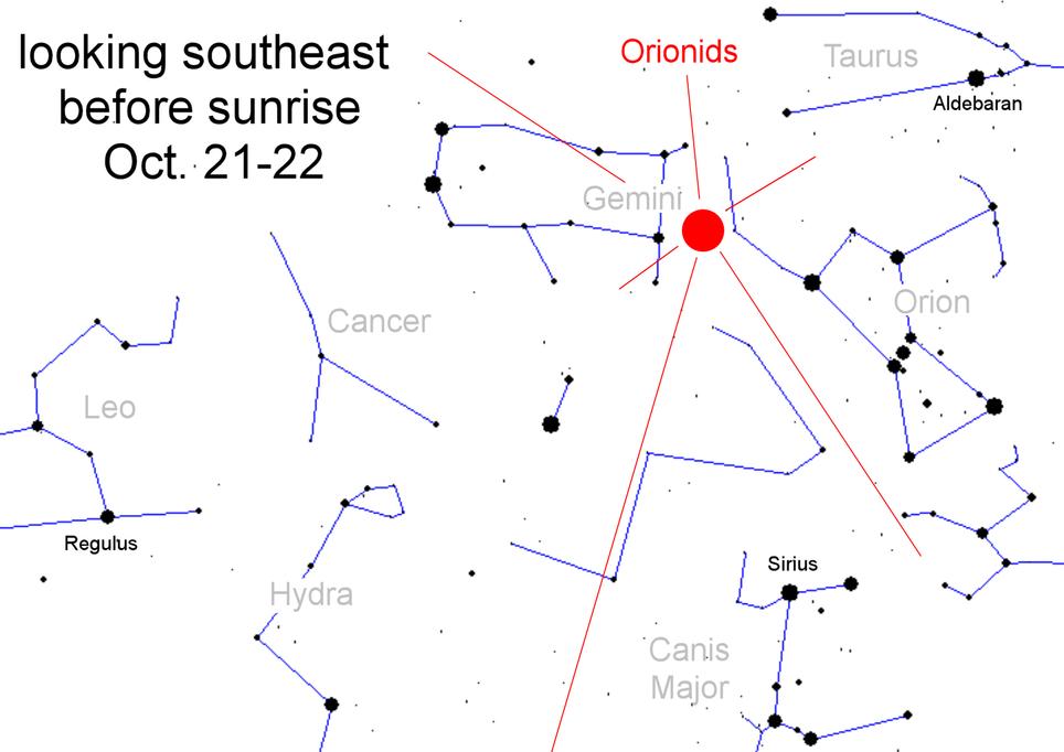 Esta noche habrá lluvia de meteoritos Oriónidas