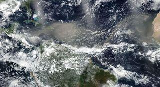 La masiva irrupción de polvo sahariano podría pasar al Pacífico