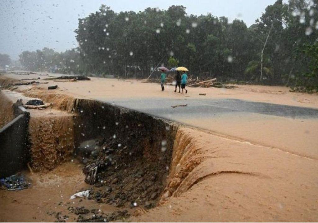 Daños asociados a las fuertes lluvias tras el ciclón tropical Eta por Centroamérica. Fotografía: AFP