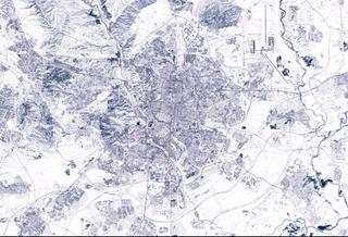 La nevada en zonas de Madrid y centro peninsular vista por satélite