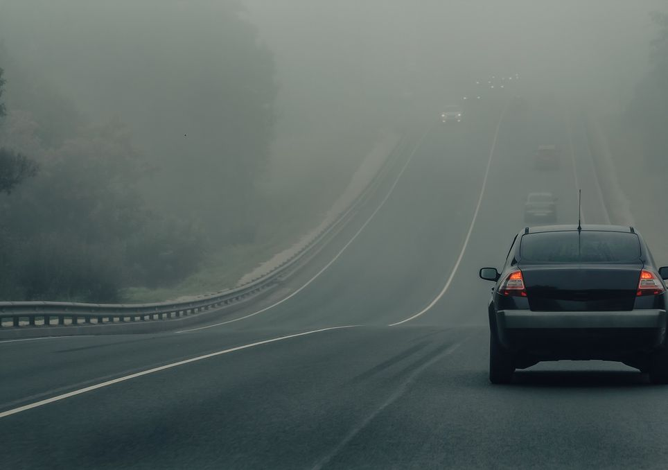 niebla y accidentes