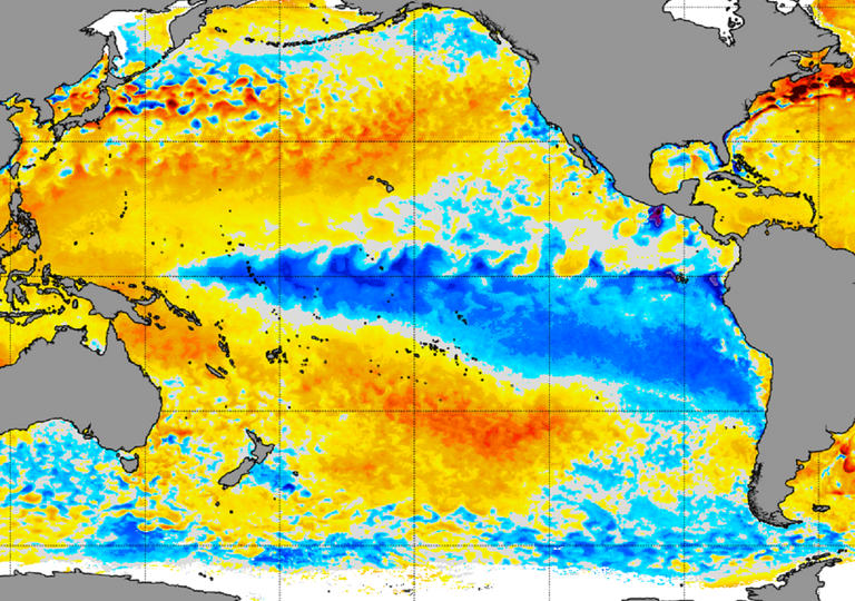 anomalía temperatura superficial del mar