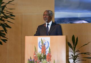 La OMM lamenta el fallecimiento de Kofi Annan