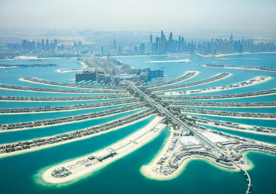 Dubai y el arena del mundo, palm jabel ali, isla de arena