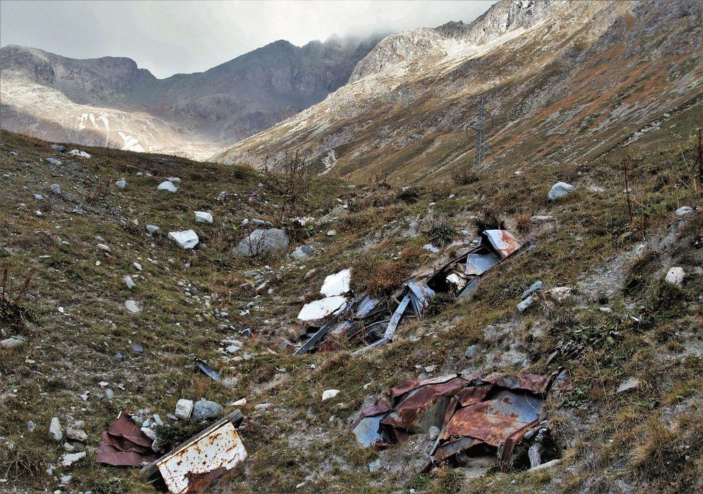 Suelo de montaña degradado
