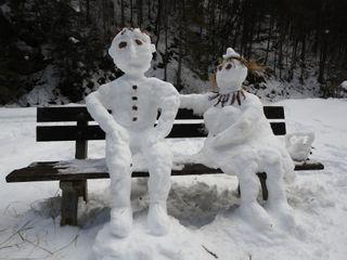 La plastilina blanca invernal