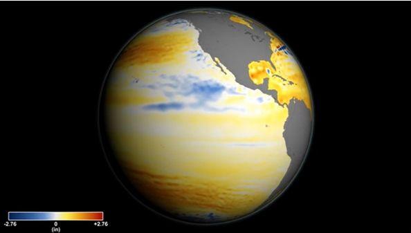 Foto 1: El aumento global del nivel del mar