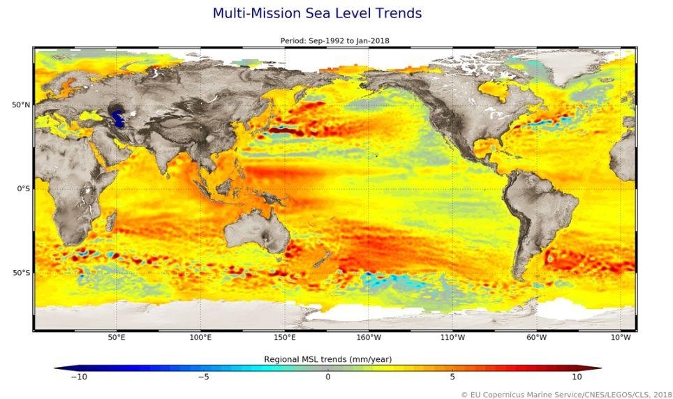 La Subida Del Nivel Del Mar Se Está Acelerando