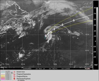 La tormenta subtropical Ernesto se forma en el Atlántico norte