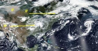 La tormenta subtropical Ernesto y el humo de los fuegos forestales