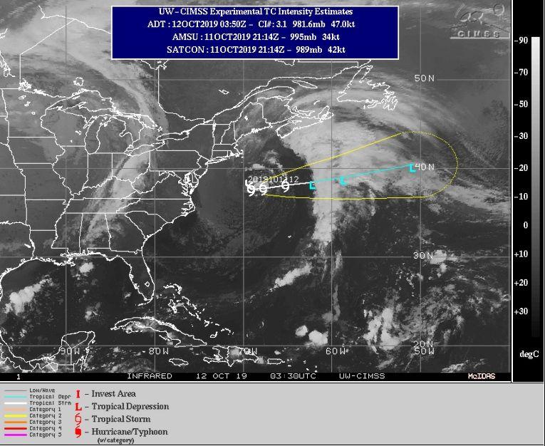 Tormenta tropical Melissa se aleja de costa este de EU