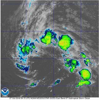 La tormenta subtropical Oscar se ha formado en el Atlántico