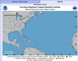 La tormenta tropical Ernesto en los límites del mapa del CNH/HNC