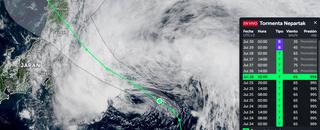 La tormenta tropical Nepartak se aleja levemente de Tokio