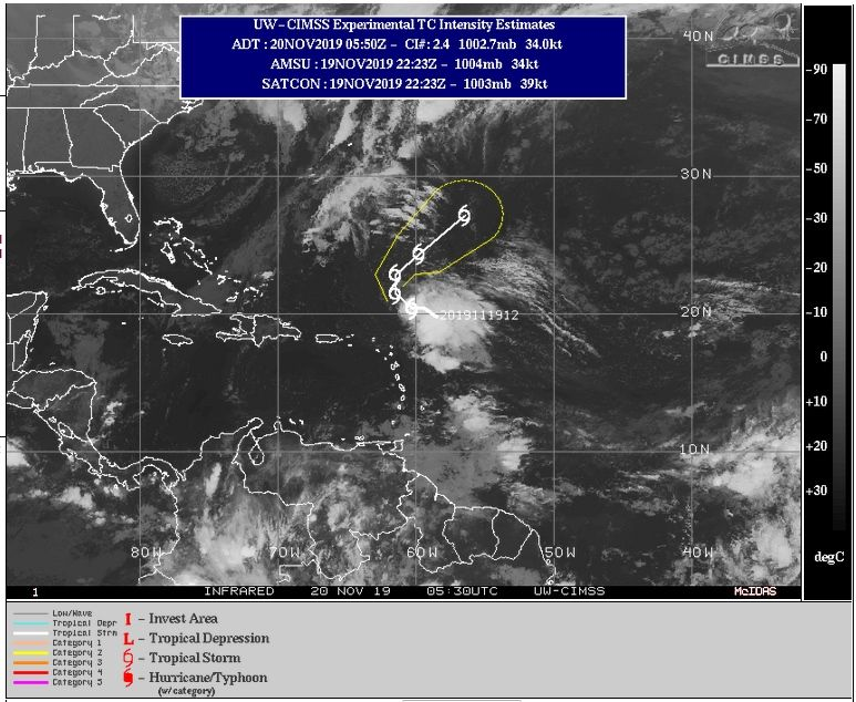 Se forma en el Atlántico la Tormenta Tropical Sebastien
