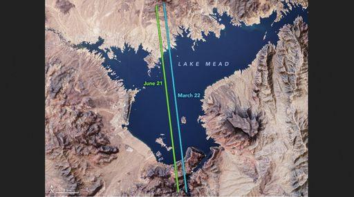 Lago Mead en las estaciones