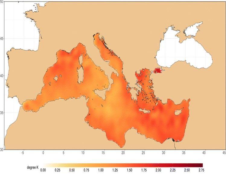 Las Aguas Del Mediterráneo Muy Cálidas