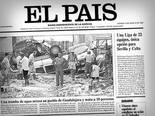 Las catastróficas tormentas de agosto de 1995 en Yebra y Almoguera