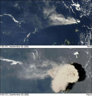 Las erupciones del volcán Ruang de Indonesia