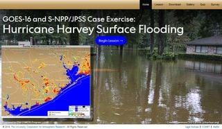 Las inundaciones asociadas con el huracán Harvey y visión satelital