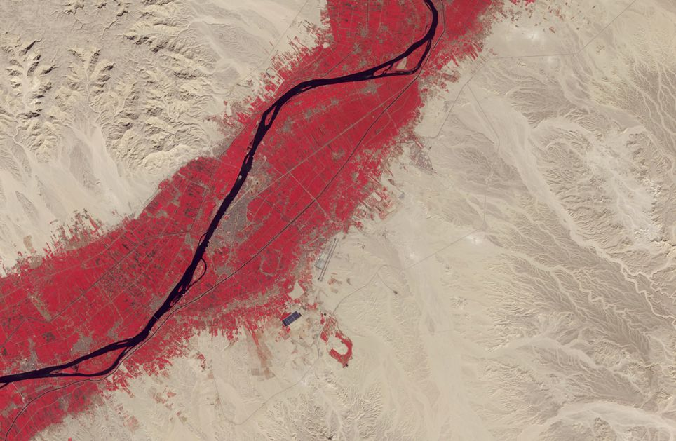 Luxor y sus alrededores. Imagen del 15 de noviembre de 2018 tomada por Terra.