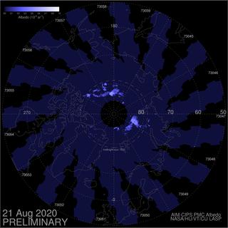 Las nubes noctilucentes de 2020 se apagan
