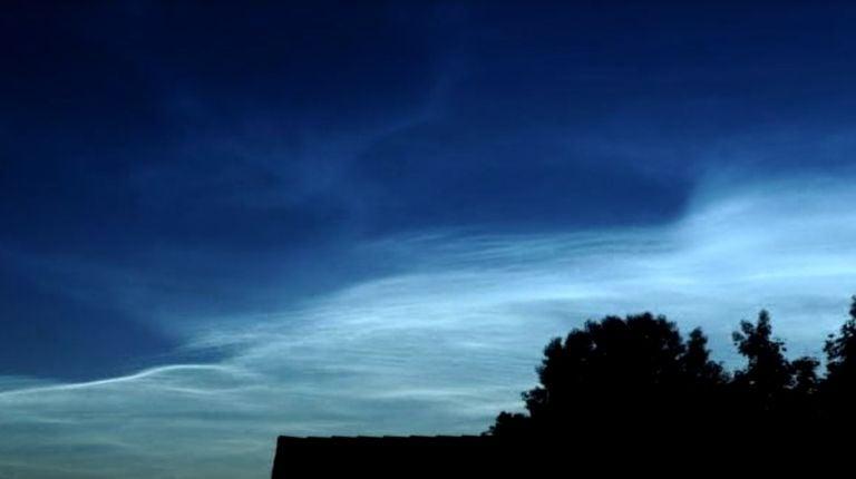 En junio de 2019 se están observando muchas nubes noctilucentes en Europa y norte de España