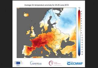 Las olas de calor como la de junio de 2019 serán 4 veces más frecuente