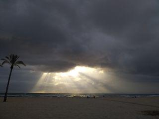Las tormentas en la playa y la temperatura del mar