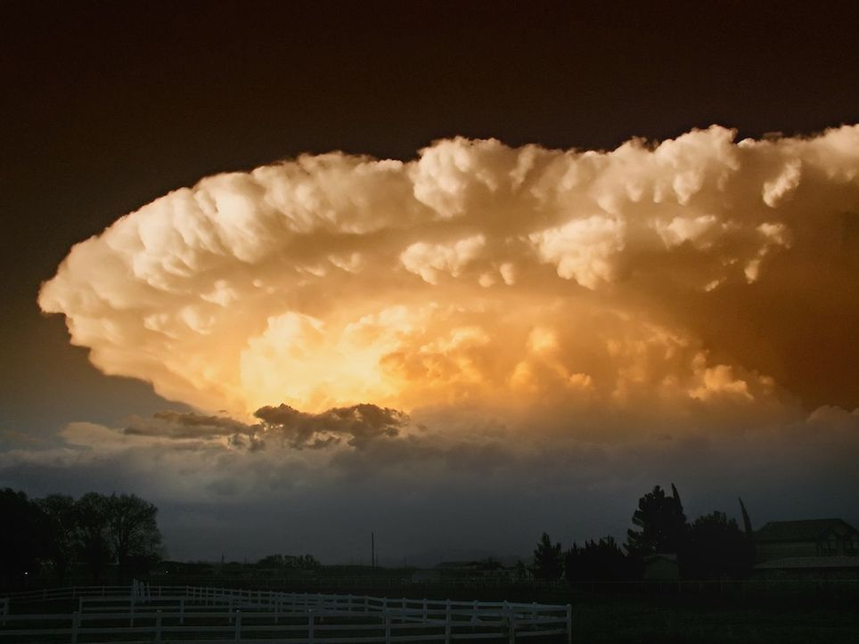 Supercélula, cumulonimbo, tormenta, mayo, España, inestabilidad, storm, thunderstorm