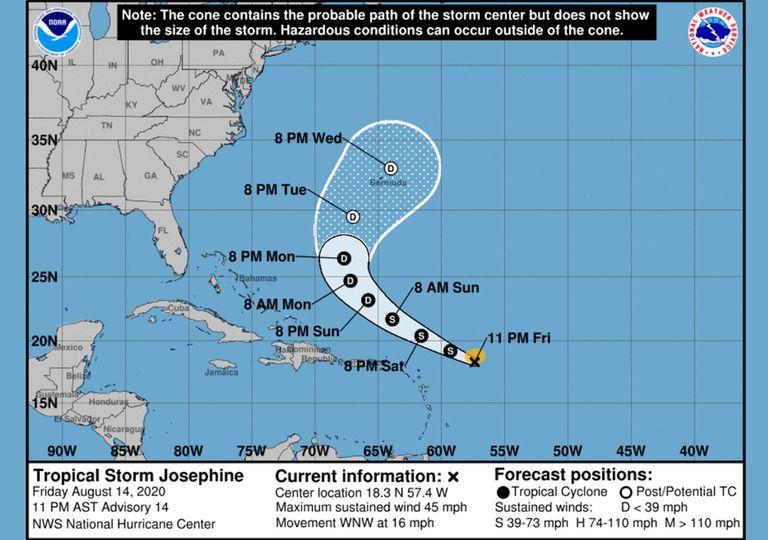 tormenta tropical Josephine