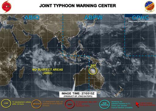 Las tormentas tropicales Diane y Esami a menos, e Invest 98P se forma