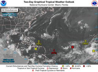 Las tormentas tropicales Paulette y Rene para la semana que viene