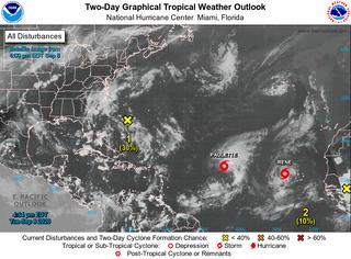 Las tormentas tropicales Paulette y Rene no vienen solas