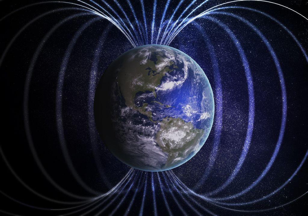 representación campo magnético
