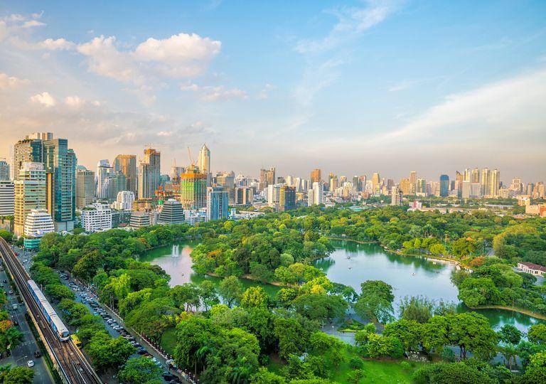 Espace vert à Bangkok