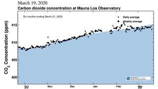 Leve reducción de las concentraciones de CO2 por coronavirus