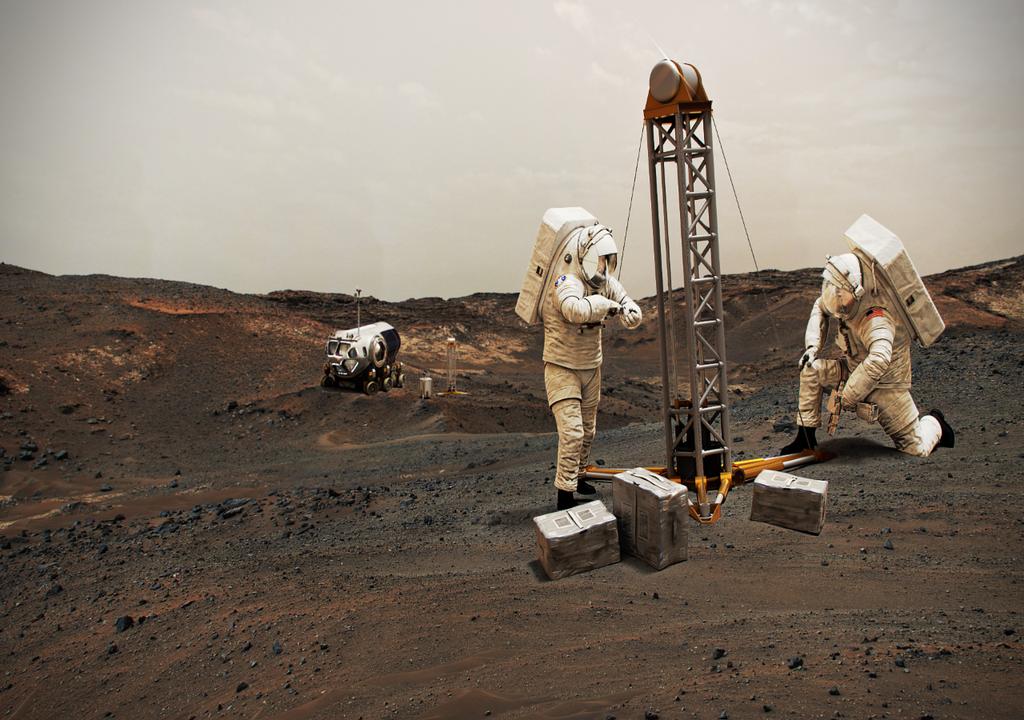 Illustration of astronauts on Mars © NASA