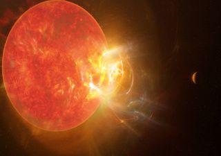 Impresionante: llamarada de una estrella como nunca otra antes vista