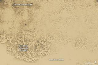 Llanuras arenosas en el Ártico