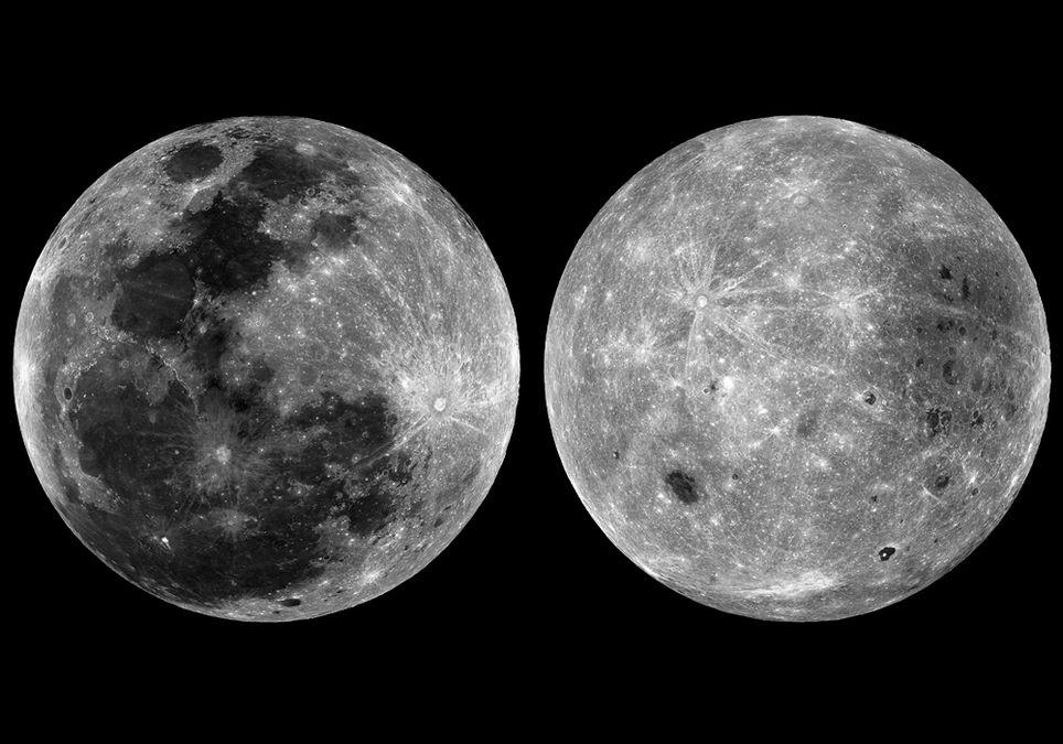 Las dos caras de la Luna.