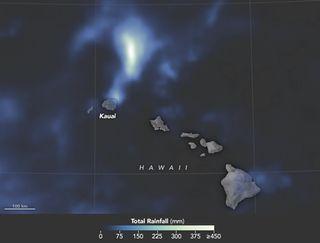 Lluvia record en Kauai, Hawai